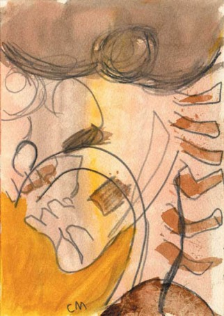 Hearing Voices, Susan Aldworth, 2000, watercolour on paper