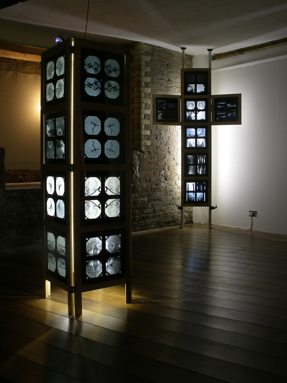 Hinged Crucifix and Plinths - installation - Whitechapel Gallery - 2002
